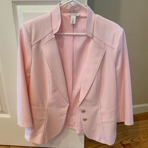 WHBM pink blazer w/silver buttons